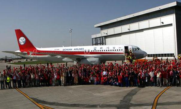 参观空中客车,考察空客A320天津总装线